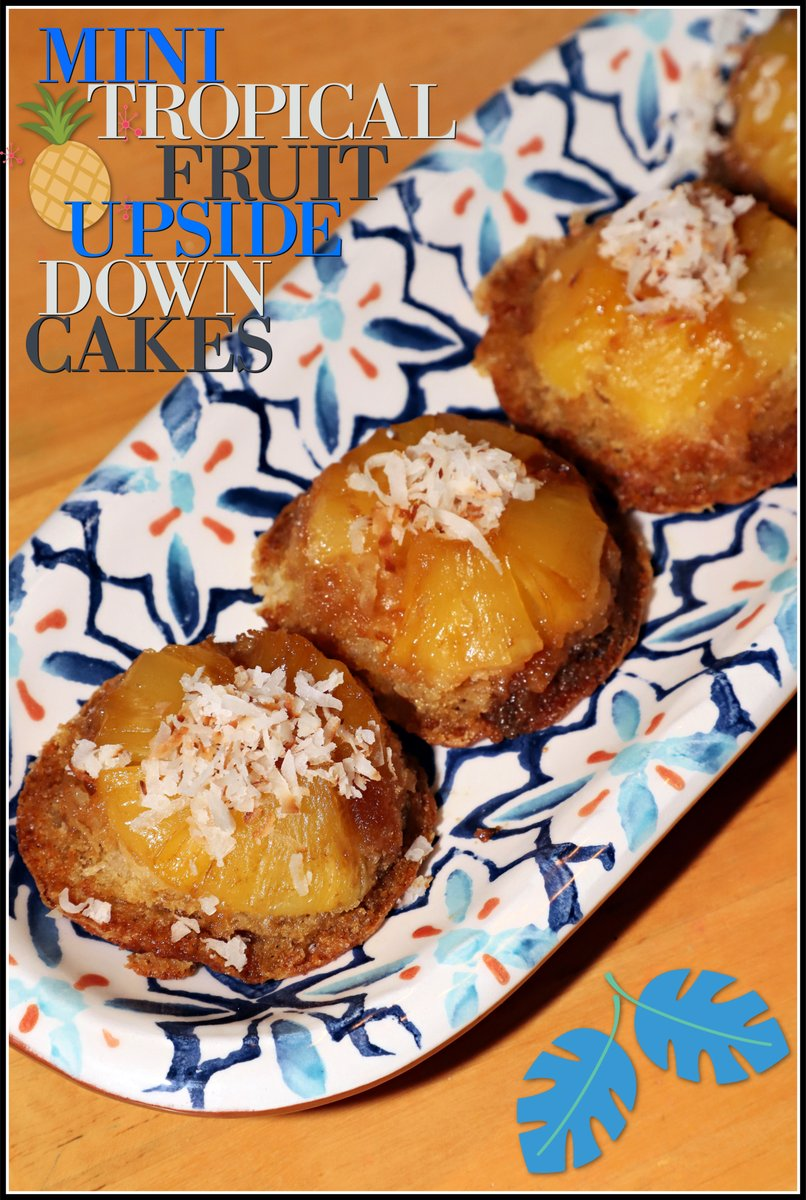 It's the first day of #SummerDessertWeek and I am sharing these buttery, sweet Mini Tropical Fruit Upside Down Cakes. These beautiful desserts are a perfect individual summer treat everyone will love. https://t.co/PTIuVG7LpB https://t.co/FddICF4yUR