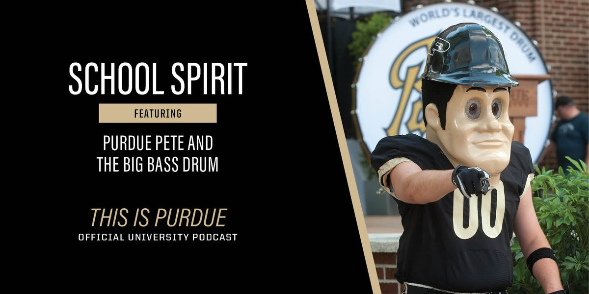 """The newest episode of """"This is Purdue"""" is all about School Spirit. Listen in to hear about Purdue's most famous celebrity & """"unofficial mascot,"""" Purdue Pete! 🔨 #PurdueGrowth #purdue  https://t.co/akdYU7q1oD https://t.co/cJK0sIefqa"""