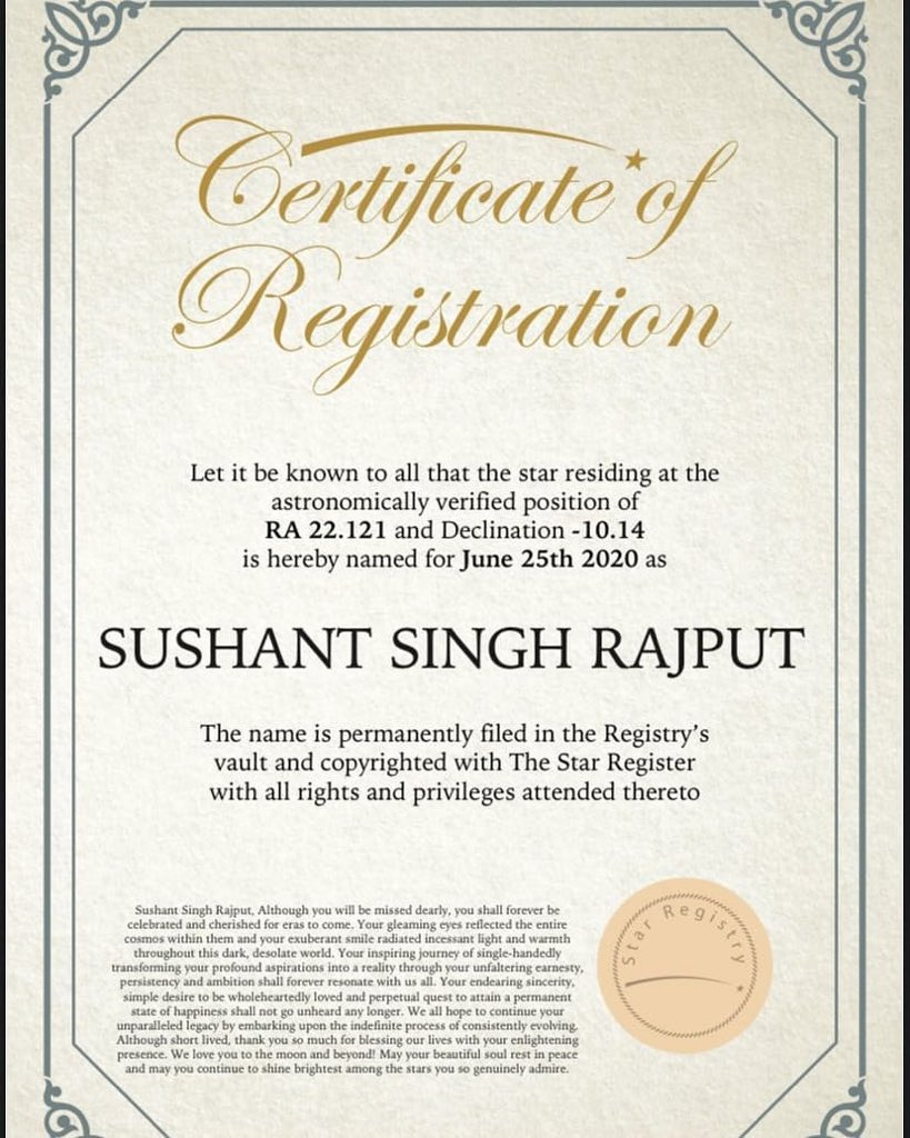 A star that will always shine on  Thanks a lot  @xAngelWingz  Hats off dear..  Lot's of love  from Kolkata I hope he is happy now. @itsSSR  #SushantSinghRajput<br>http://pic.twitter.com/K3Pr0mOrHn