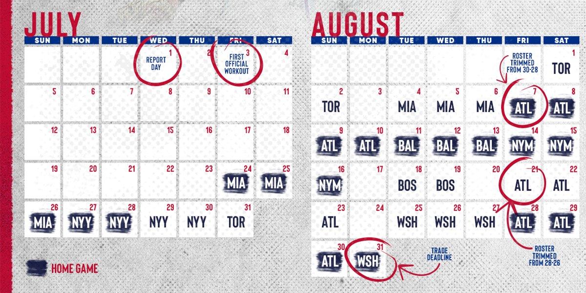 Phillies 2020 Schedule
