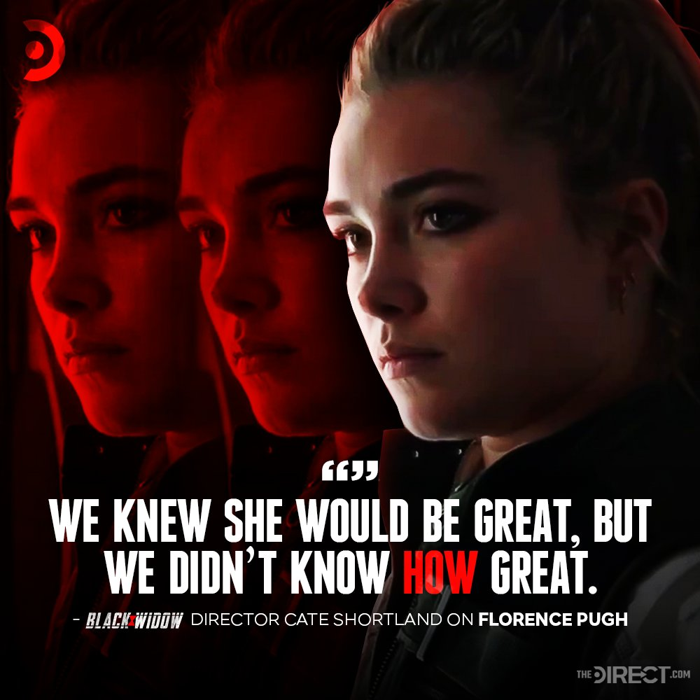 Actress @Florence_Pugh has REALLY impressed #BlackWidow director Cate Shortland and @MarvelStudios president Kevin Feige... Full quote: thedirect.com/article/scarle…