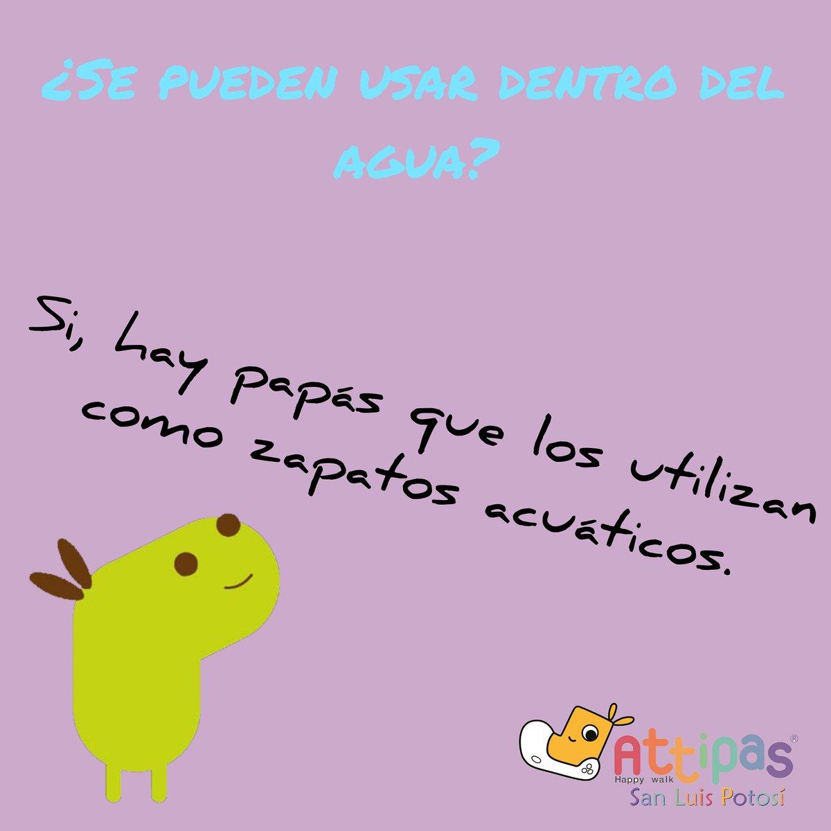 Attipas San Luis Potosí Responde: Por ser ligeros aún con agua no pesan, además protegen los pies de tu bebé de pisar piedras, de resbalones, etc... #attipas #SanLuisPotosí #México#desdeelpregateo #primerospasos #gateacaminasaltacrececonattipaspic.twitter.com/w4QEprwcC1