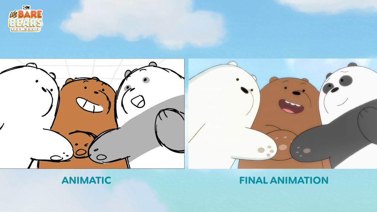 Check out the animatics of when the Baby Bears first meet from #WeBareBearsMovie! 🐻🐼 ❄️🍿🎟️ Watch NOW on Amazon, Google Play, and Apple! (US and CA only)  Buy it now 👉   #WeBareBears #CartoonNetwork #ad