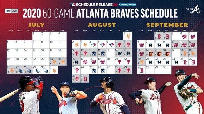 Braves 2020 Schedule