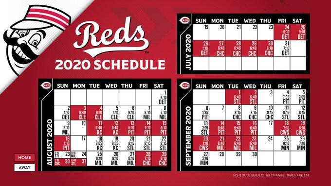 Reds 2020 Schedule