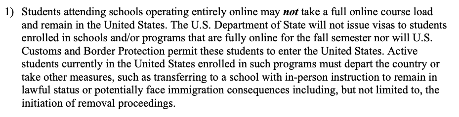 Heres the text of the policy. This puts the US, students and universities in a lose-lose-lose situation. ice.gov/doclib/sevis/p…