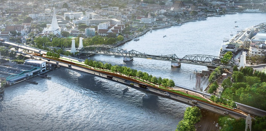 Just to prove I'm not anti-this-typology. Here is a Garden Bridge opening soon in Bangkok, making use of an unfinished bridge abandoned in 1992 and costing $4m USD. pic.twitter.com/sdhLYBxv2p