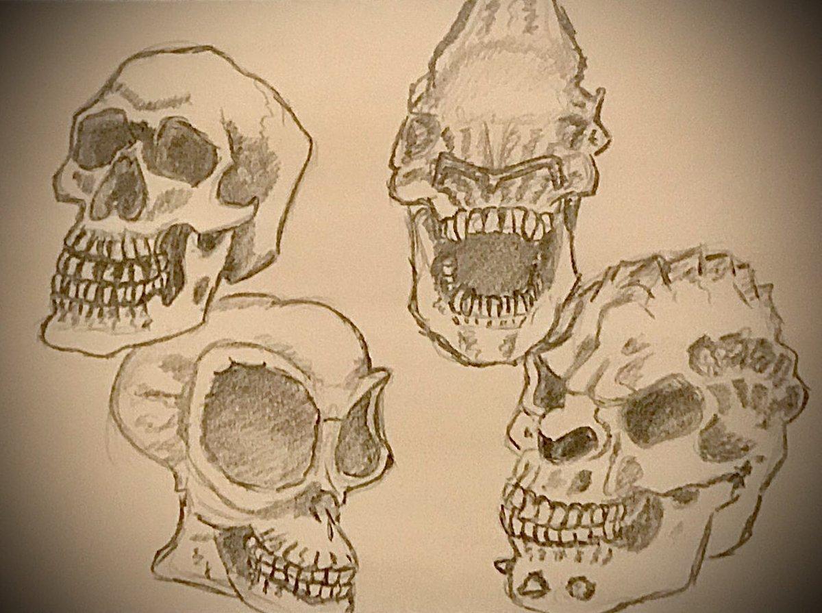 #PencilSketch #Skulls #KleineKunstKlasse  !Bpic.twitter.com/vQRgB6GnZx