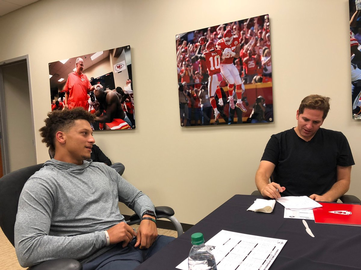 Week 3, 2018.   Mahomes told us he wants to be a great teammate, community leader, and bring @Chiefs fans the Lombardi they so deserve.  Since then, he's done all that and a whole lot more ...  Congrats, @PatrickMahomes and to that fan base.<br>http://pic.twitter.com/6HG2ef1h5Z