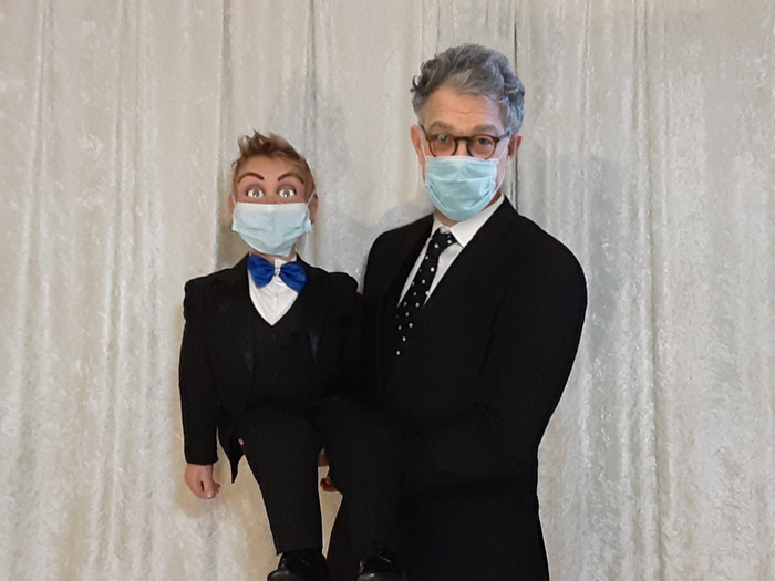Started a new hobby during this period. Ventriloquism! Getting pretty good, if I do say so myself!    I now challenge @SarahKSilverman and @NormOrnstein to post a picture of yourself in a mask and tag #WearADamnMask.    And thx for the challenge, @BobBalaban!
