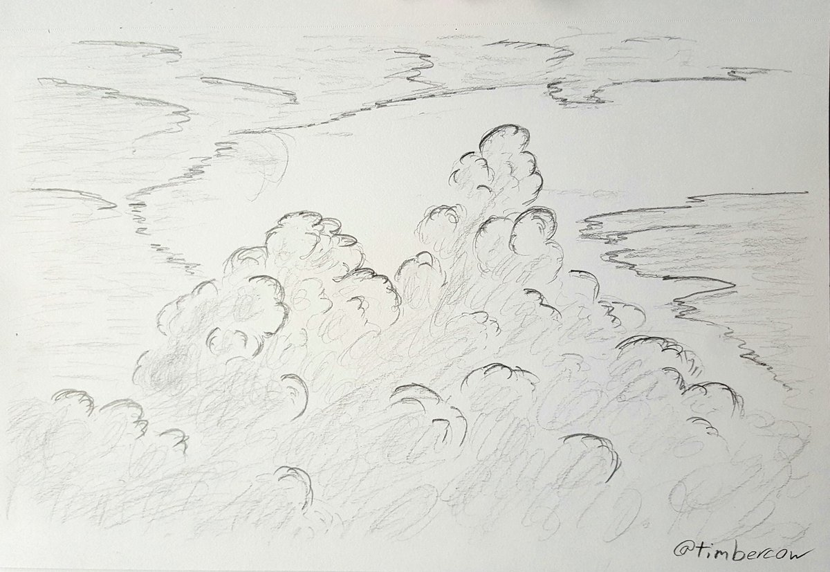 Sketching storm clouds on a stormy day. #art #sketch #storm #weather #traditionalart #pencilsketch #clouds #sky #artistsontwitterpic.twitter.com/60bPStCmMK