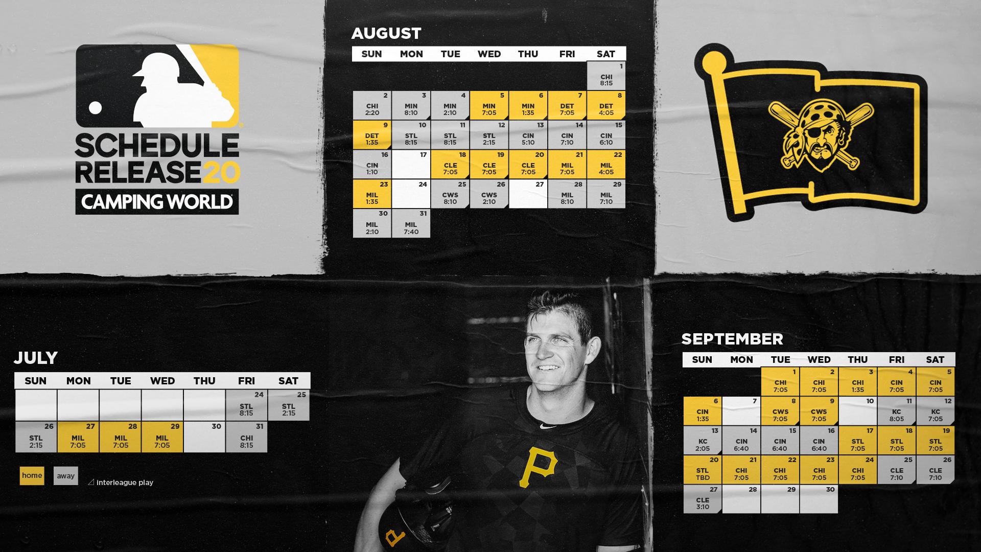 Pirates 2020 schedule