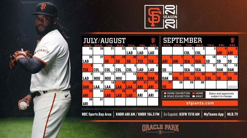 The San Francisco Giants 2020, 60 game schedule. https://t.co/rLpvBgxo5f