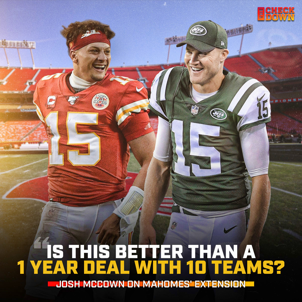 McCown has one question about Mahomes' contract 😂😂 @JoshMcCown @PatrickMahomes @Chiefs https://t.co/DNAR1qn2ni