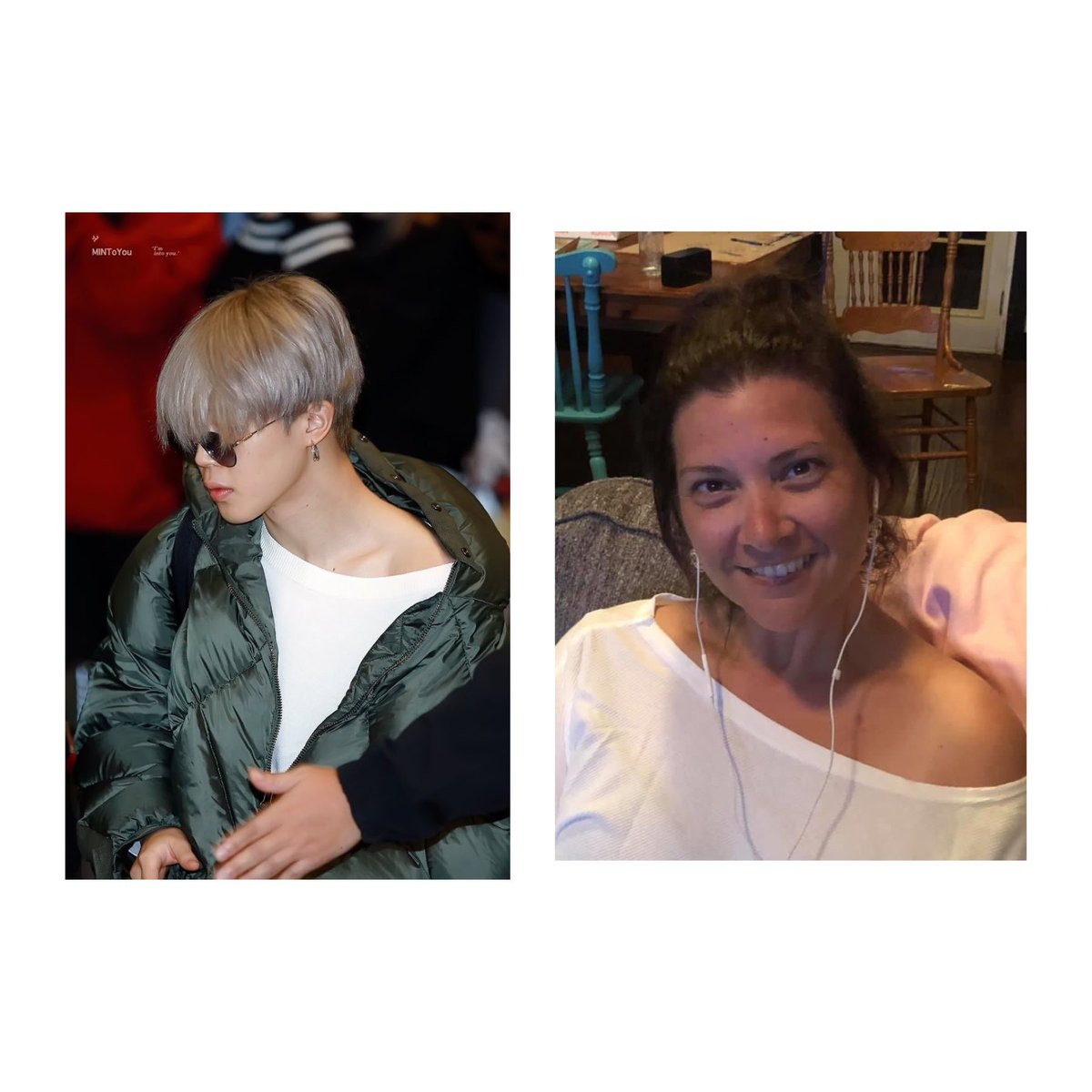 "Jimin and I having matching ""accidents"" 💜🥰😂 #ARSD #ARMYSeIcaDay @BTS_twt"