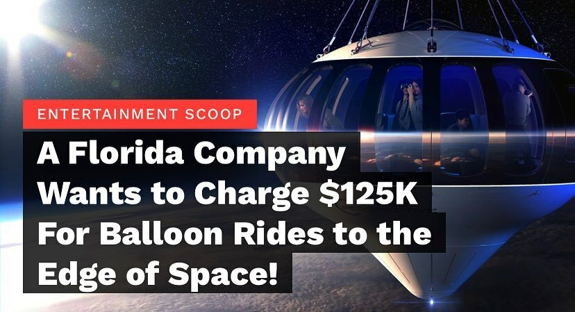Looks like #spacex has some competition.  A Florida-based company has plans to curate balloon rides to the edge of space. What could possibly go wrong right? . .  #spaceperspective which is based in Florida but will operate the balloon rides in Alaska is… https://instagr.am/p/CCUTfYkj8gG/ pic.twitter.com/sCgqjldJox