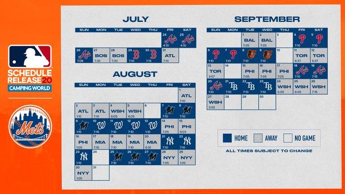 Mets 2020 Schedule