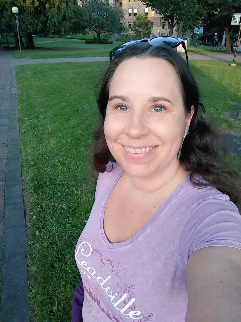 Evening walk #selfie