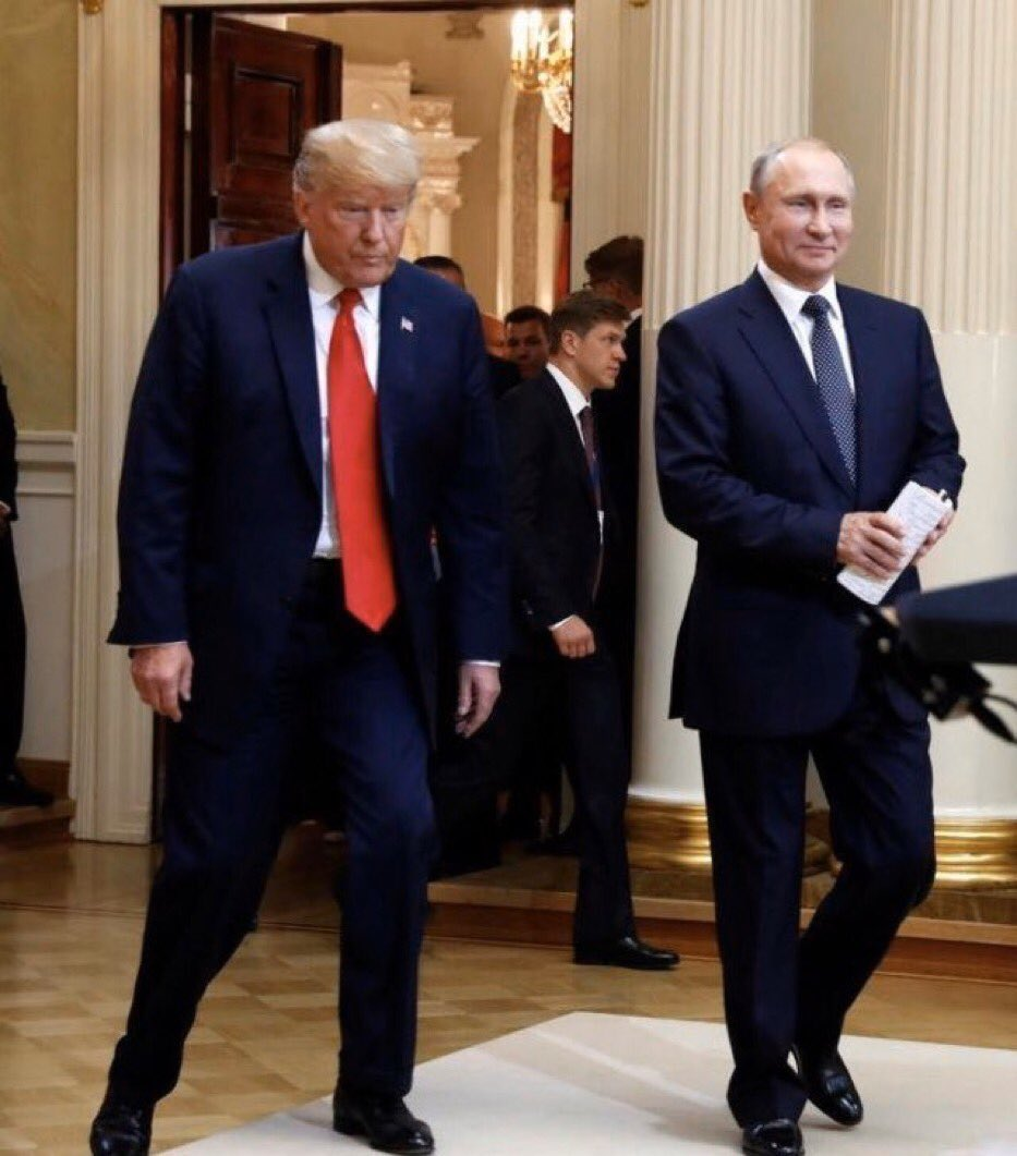 Do not forget this moment in Helsinki when Trump met with Putin & betrayed America. And don't forget nearly a week after we learned Russia's paid bounties to kill US troops, Trump has plenty to say about flags & NASCAR & who owes whom an apology, but nothing to say about Putin. <br>http://pic.twitter.com/1piNbBhZ2a