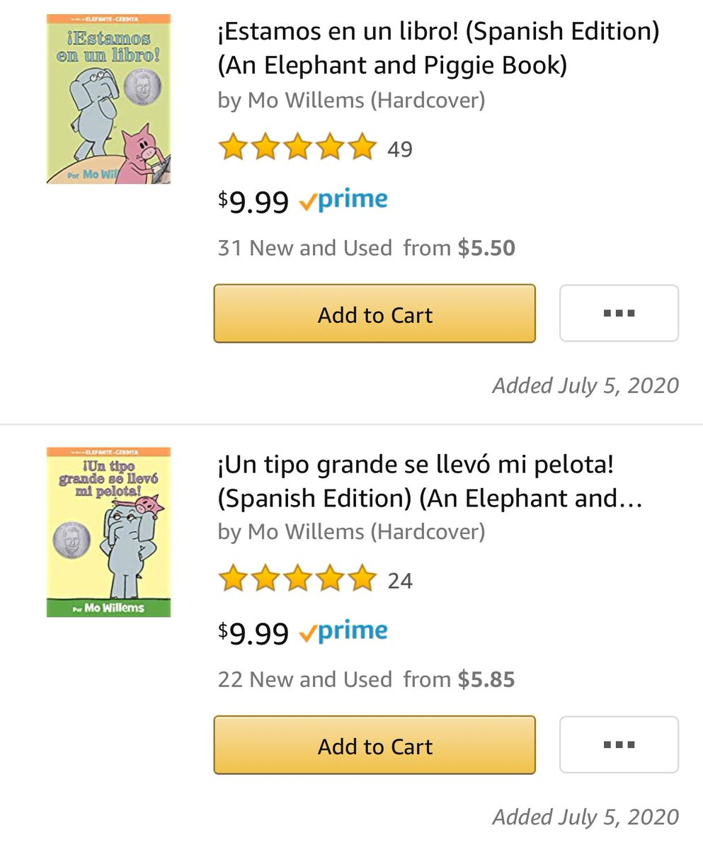 @awesometeach3 First grade teacher in #Texas trying to get more #Spanish Elephant and Piggie books, wishlist 💜💚  https://t.co/yrjybFFCU0 #books #readalouds #teachertwitter #kindnessmatters https://t.co/Hx4zEk6EZn