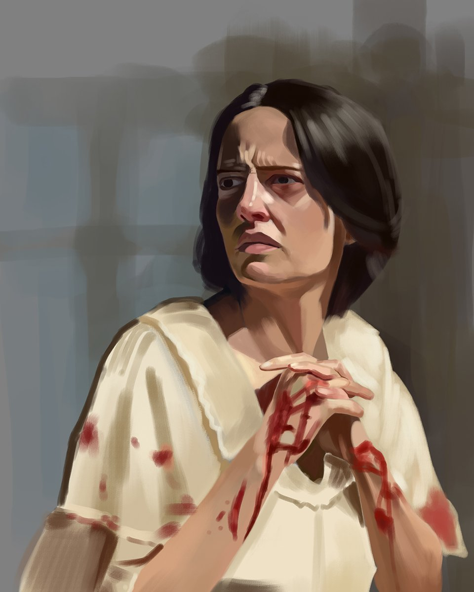 """""""Fear not old prophecies. We defy them. We make our own heaven and our own hell.""""  Here's a quick and very loose painting of #EvaGreen as #VanessaIves in #PennyDreadful. Follow me on IG (theabathan) for timelapse videos.  #art #digitalart #digitalillustration #digitalpainting https://t.co/T5v0SbYATL"""