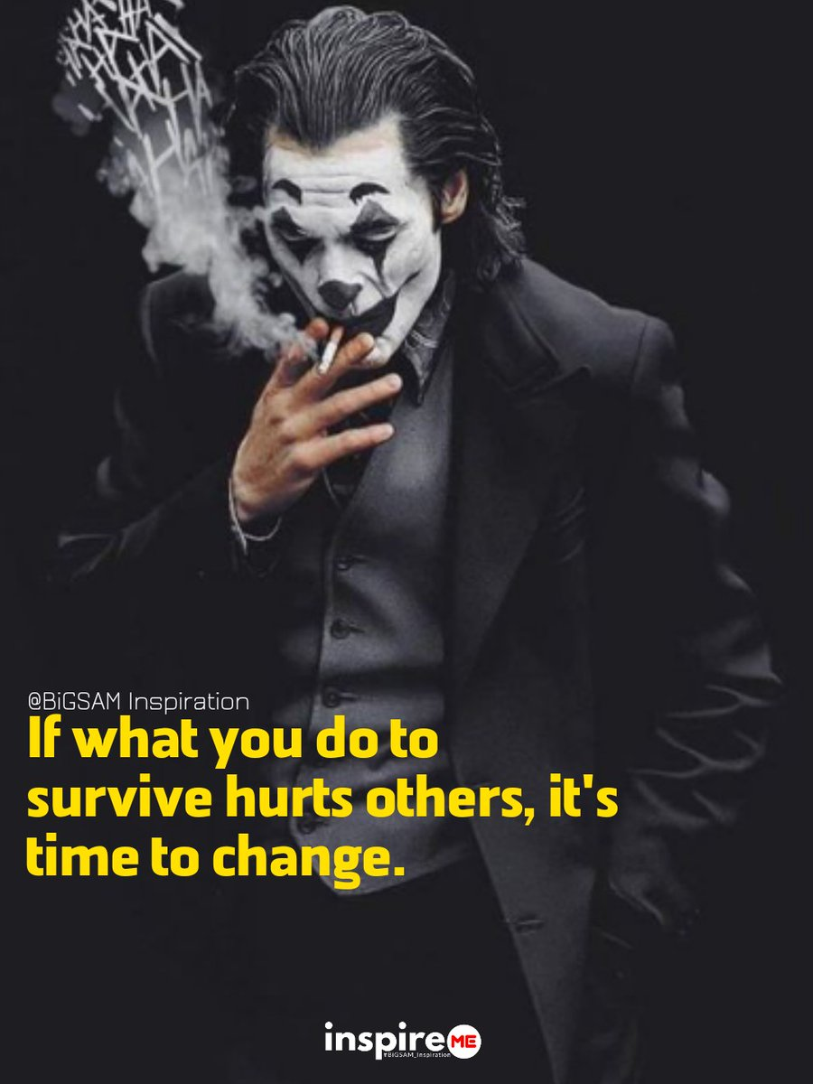 If what you do to survive hurts others, it's time to change. °inspireME #transformationtuesday #bigsam_inspiration #quote #explore #entrepreneur #encouragement #inspiration #inspireME #comment #TFLers #tweegram #quoteoftheday #transformationquotes #life #love #photooftheday #truepic.twitter.com/ynvAKsCj1x