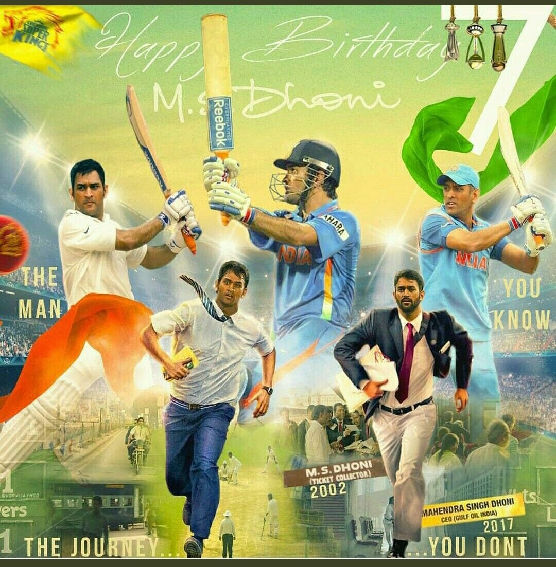 """Happy Birthday Mahi! @msdhoni You've been the biggest idol. Learnt a lot from your attitude towards situations and handling of those calmly.  Love your quote - """"I don't regret anything in life. What doesn't kills you makes you stronger""""  #HappyBirthdayDhoni #admiration https://t.co/vinWSaUpNh"""