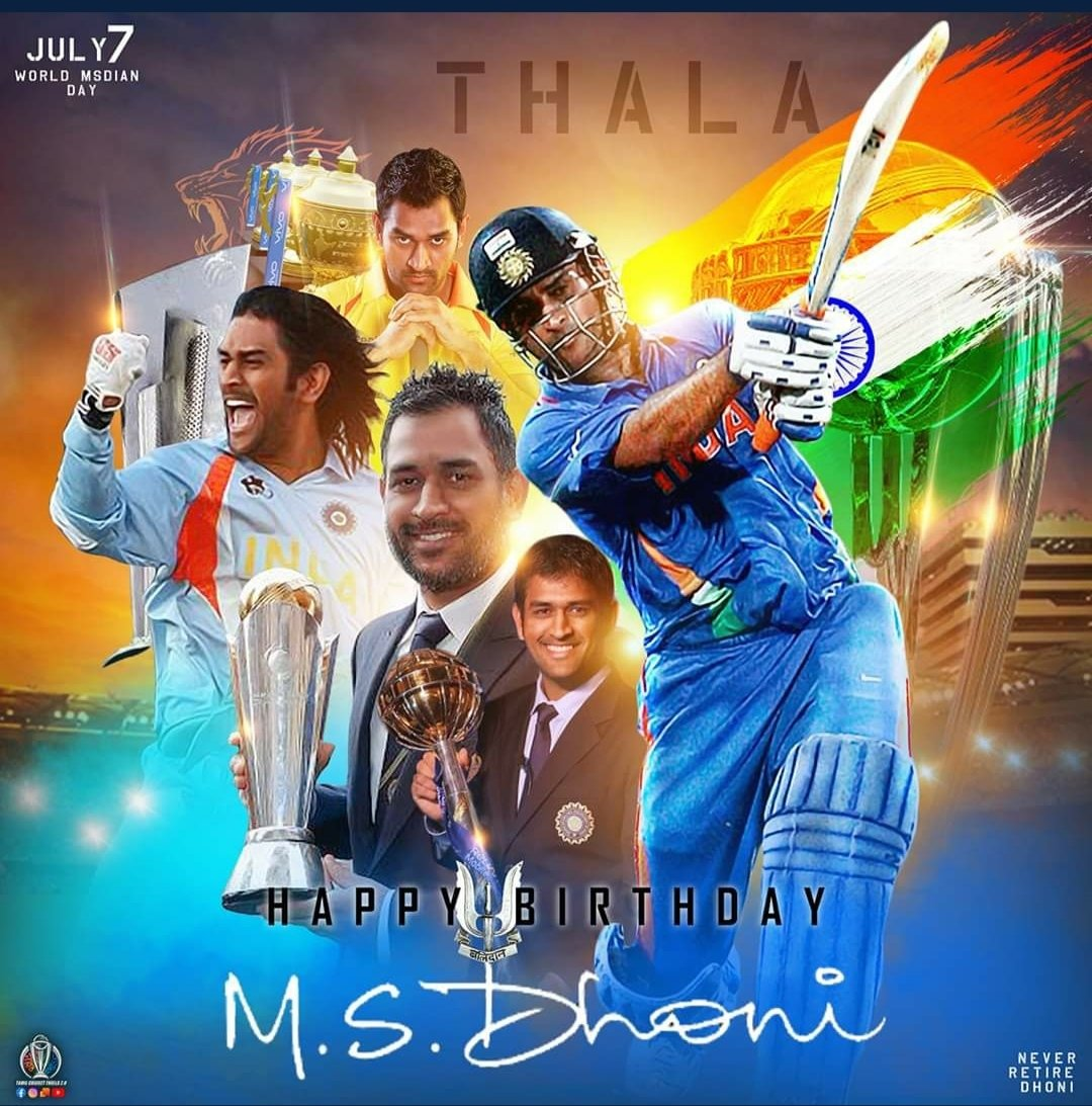 """Happy Birthday Mahi! @msdhoni You've been the biggest idol. Learnt a lot from your attitude towards situations and handling of those calmly.  Love your quote - """"I don't regret anything in life. What doesn't kills you makes you stronger""""  #HappyBirthdayDhoni #admiration https://t.co/blN8WZdS6q"""