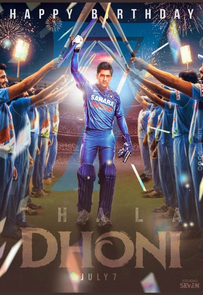 """Happy Birthday Mahi! @msdhoni You've been the biggest idol. Learnt a lot from your attitude towards situations and handling of those calmly.  Love your quote - """"I don't regret anything in life. What doesn't kills you makes you stronger""""  #HappyBirthdayDhoni #admiration @itsSSR https://t.co/05HUvfsXCj"""
