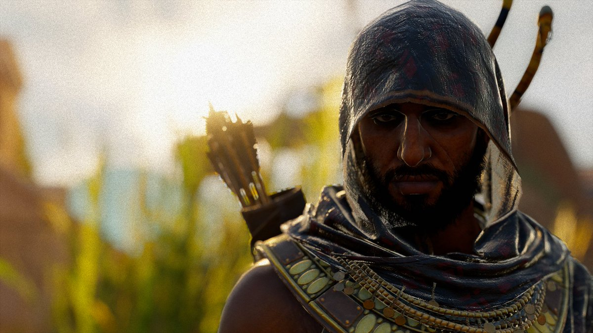 Reposting this shot of #Bayek from #AssassinsCreedOrigins for #PhotoModeMonday because I really liked the lighting and the soft focus. pic.twitter.com/8R4xHXHoBd