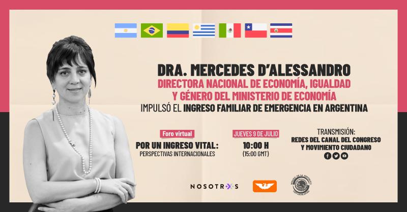 En Argentina cuentan con un ingreso familiar de emergencia para ayudar a la gente económicamente durante la pandemia y este jueves la Dra. @dalesmm nos compartirá la experiencia en su país, en el foro internacional: Por un Ingreso Vital.  🗓 Jueves 9 de julio. 🕐 10:00 horas. https://t.co/f2Naen1kHd