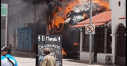 #Ayer QUEMAZÓN EN BACALAR: Fuego consume un bar en el centro del 'pueblo mágico'   https://t.co/otb9hgGVYP https://t.co/cI5V34pErh
