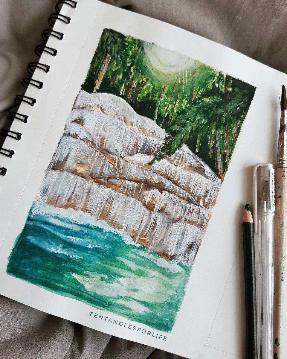 Dunn's River Falls #jamaica #landscapepaintingpic.twitter.com/sBq3Cqpkm0
