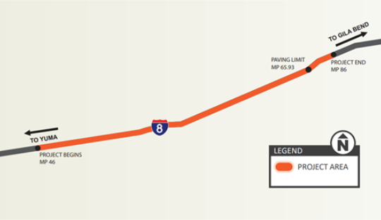 ⚠️ I-8 RAMP CLOSURES ⚠️ On Wednesday, July 8, the I-8 EB on- and off- ramps at Exit 54 (Mohawk Traffic Interchange) will be closed for roadwork. The speed limit will be reduced to 65 mph. Work is scheduled from 5 a.m. to 5 p.m. #aztraffic