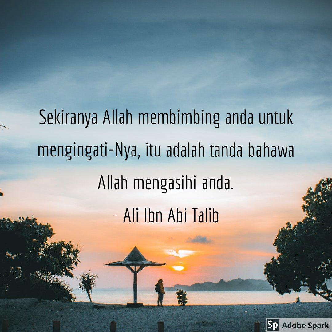 Sekiranya Allah membimbing anda untuk mengingati-Nya, itu adalah tanda bahawa Allah mengasihi anda.  - Ali Ibn Abi Talib #QuranHour https://t.co/PqJYygpLOG