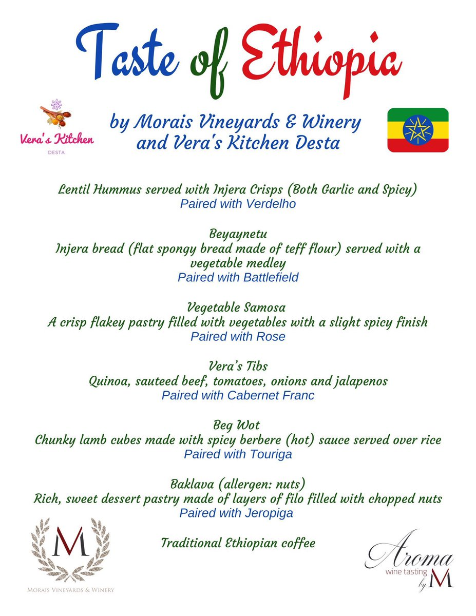 """@Morais_Vineyard,  """"Few tickets remain for our 1st stop on the Morais Vineyards 'Around the World' Passport Series! We are 'traveling' to Ethiopia!  Join us on Sunday, July 19th from 2:00pm-4:00pm!"""" #wine #local #aroundtheworld #winepairing #FauquierCounty #winecountrypic.twitter.com/4bLXc5UANm"""