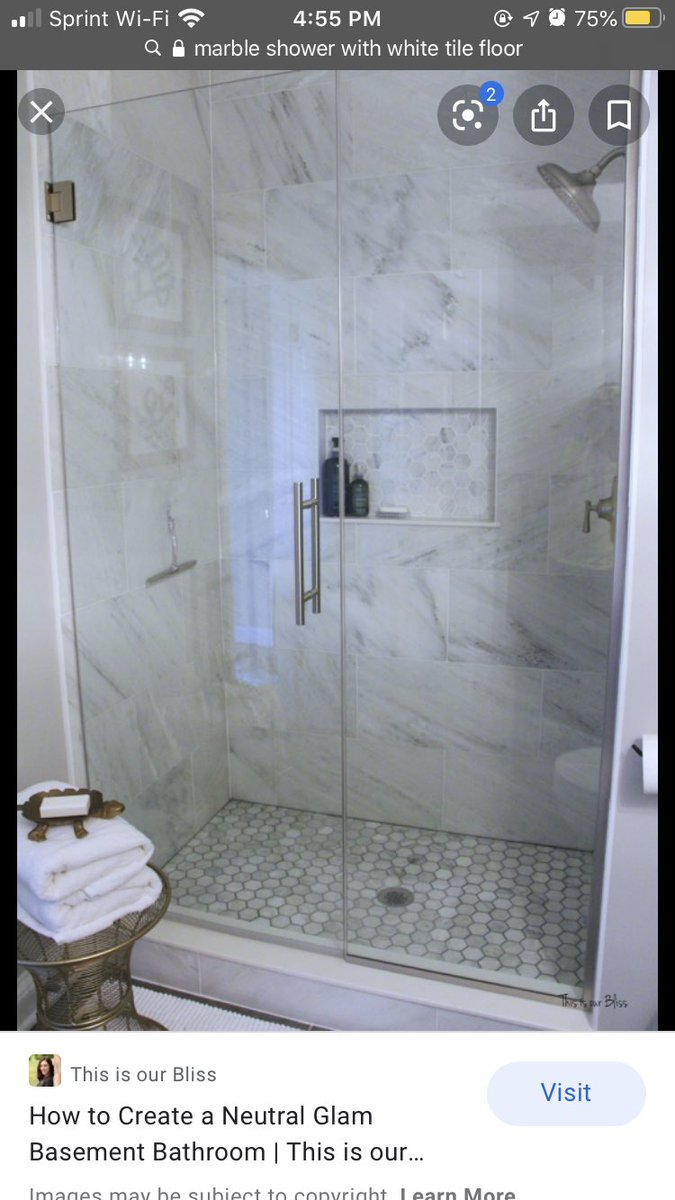 I'm gonna do the shower white marble tile so I need help. It's a big space so it won't feel crammed doing marble. Which do you like better? Third pic is for floor reference I'm doing matte black tile but no design with it & no accent to break up the marble pic.twitter.com/IzuLtlp7Mt