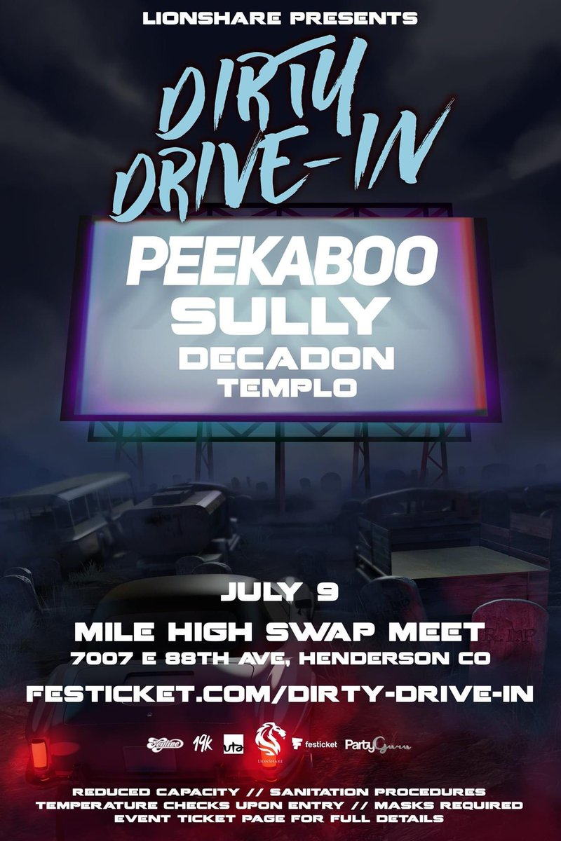 Joining my pal @peekaboobeats in Colorado this Thursday for some drive-in Shenanigans!   See ya soon ❤️ https://t.co/bF9lD2u0hY