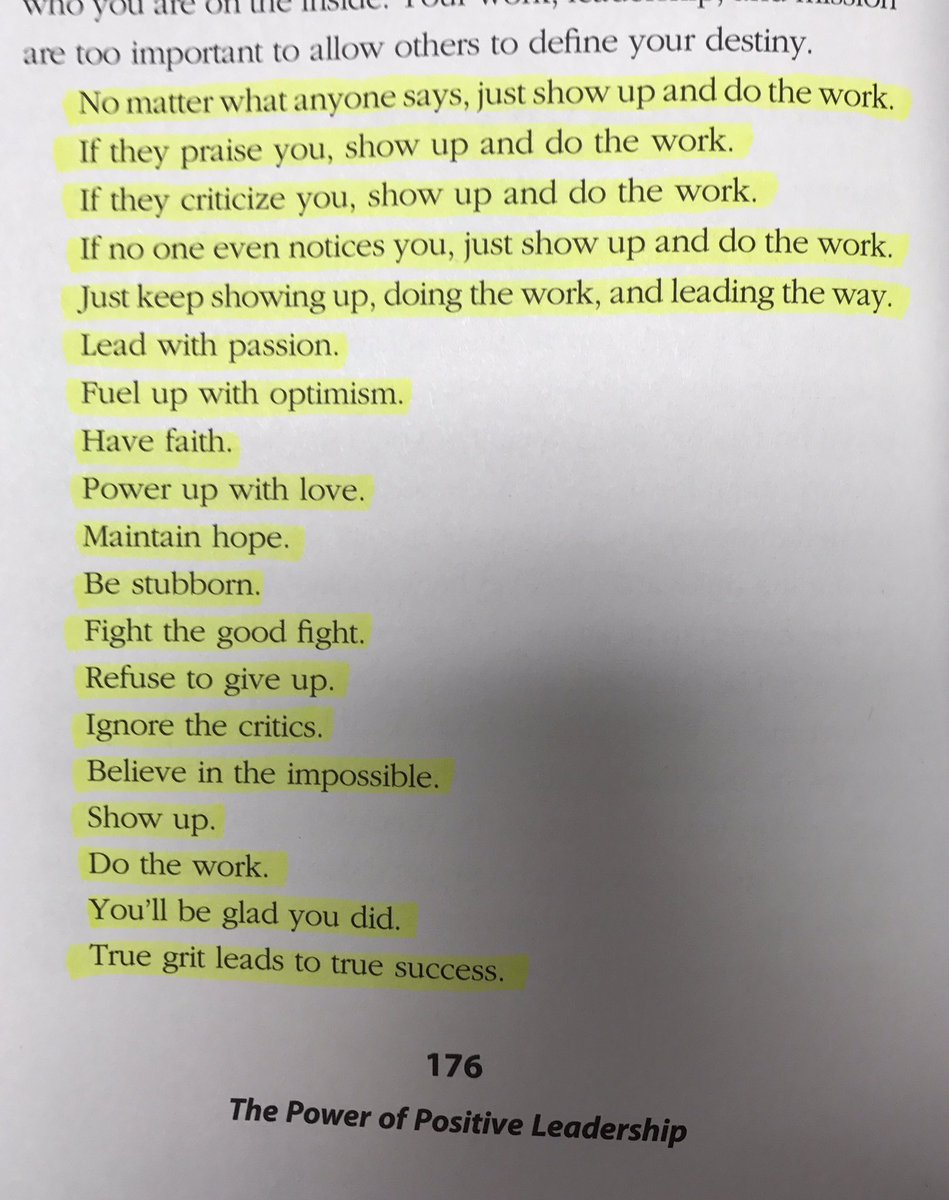 Show up. Do the work.