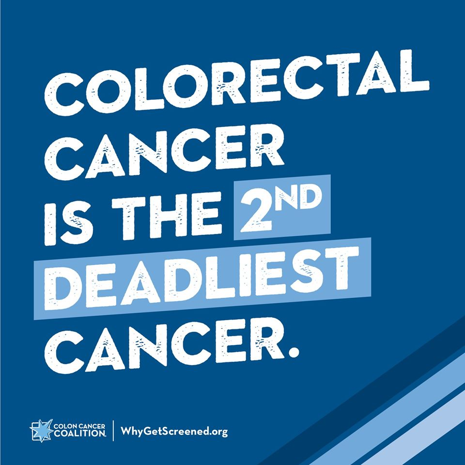 Colorectal cancer is the second deadliest cancer according to @GYRIG. We provide free, at-home colorectal cancer screening kits for men and women without insurance and those who qualify. Request a kit at bit.ly/2UbqotJ. #EarlyDetectionSavesLives Image: @GYRIGFW