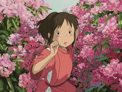 Spooky Thaddy On Twitter Chihiro Running Through The Flower Garden Ghibliredraw Spiritedaway