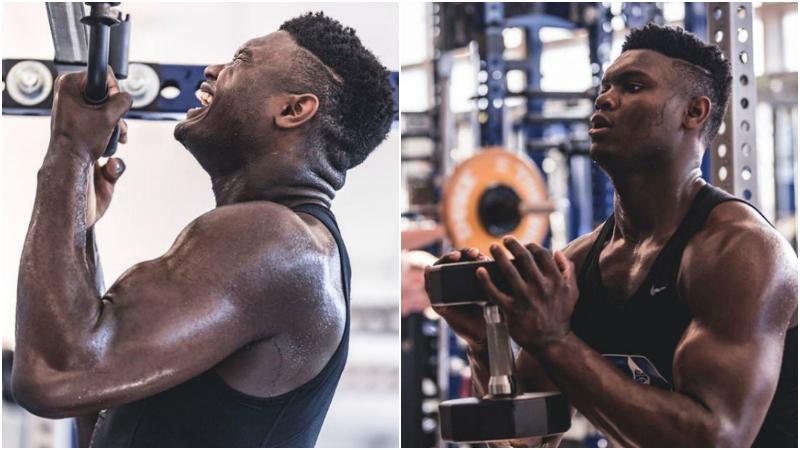 太拼了!曝Zion每天苦練8小時,訓練師:他已增加18磅肌肉!