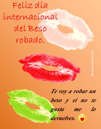 """DATO CURIOSO  Hoy 06 de julio conmemoramos el """"DÍA INTERNACIONAL DEL BESO ROBADO"""" https://t.co/5DXyekiTPw"""