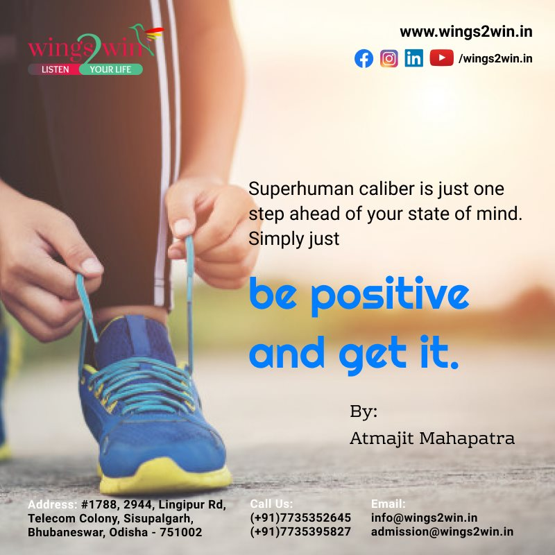 Superhuman caliber is just one step ahead of your state of mind. Simply just be positive and get it.  Visit: https://t.co/bzT1u8dAMU to know more... or Call us: +91-7735352645 #spokenenglish #spokenenglish #SoftSkills #personality #motivation #Wings2WinThought #TodayThought https://t.co/CpWb5zRfTV
