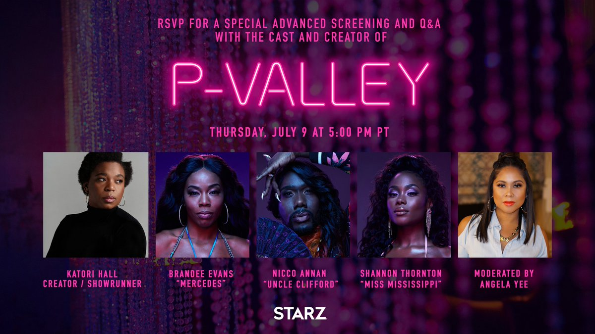 Want VIP at The Pynk? Join us for a special advanced screening of #PValley July 9 at 5PM PT, followed by a Q&A with the cast moderated by @angelayee. RSVP here: