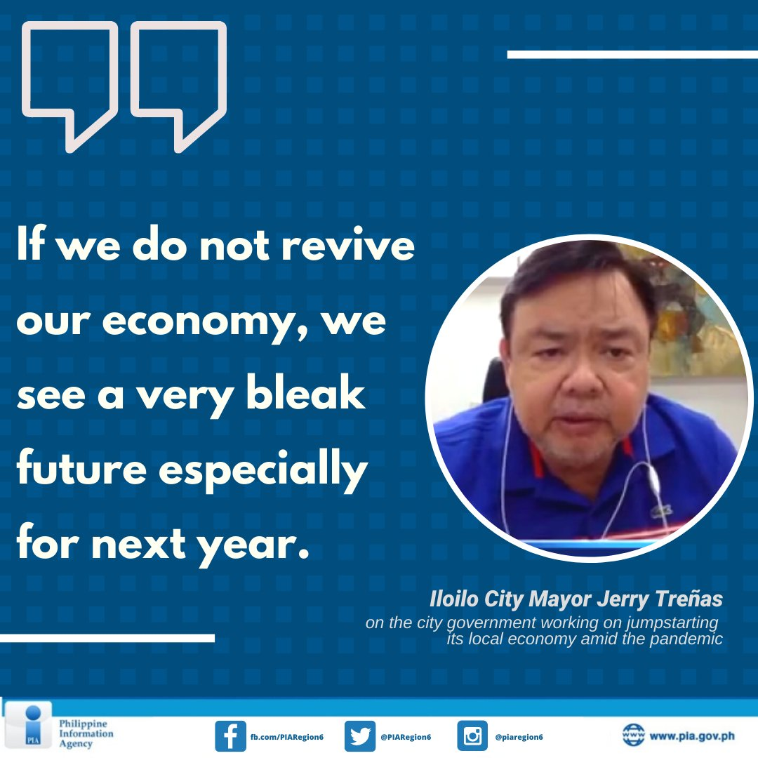 In an interview over PCOO's Laging Handa Public Briefing program, Iloilo City Mayor Jerry Treñas said that it is time to revive the economy to reduce the number of closing businesses and people losing their jobs.  Read full story: https://t.co/Id6dwglpFO https://t.co/IjKVJQ961b