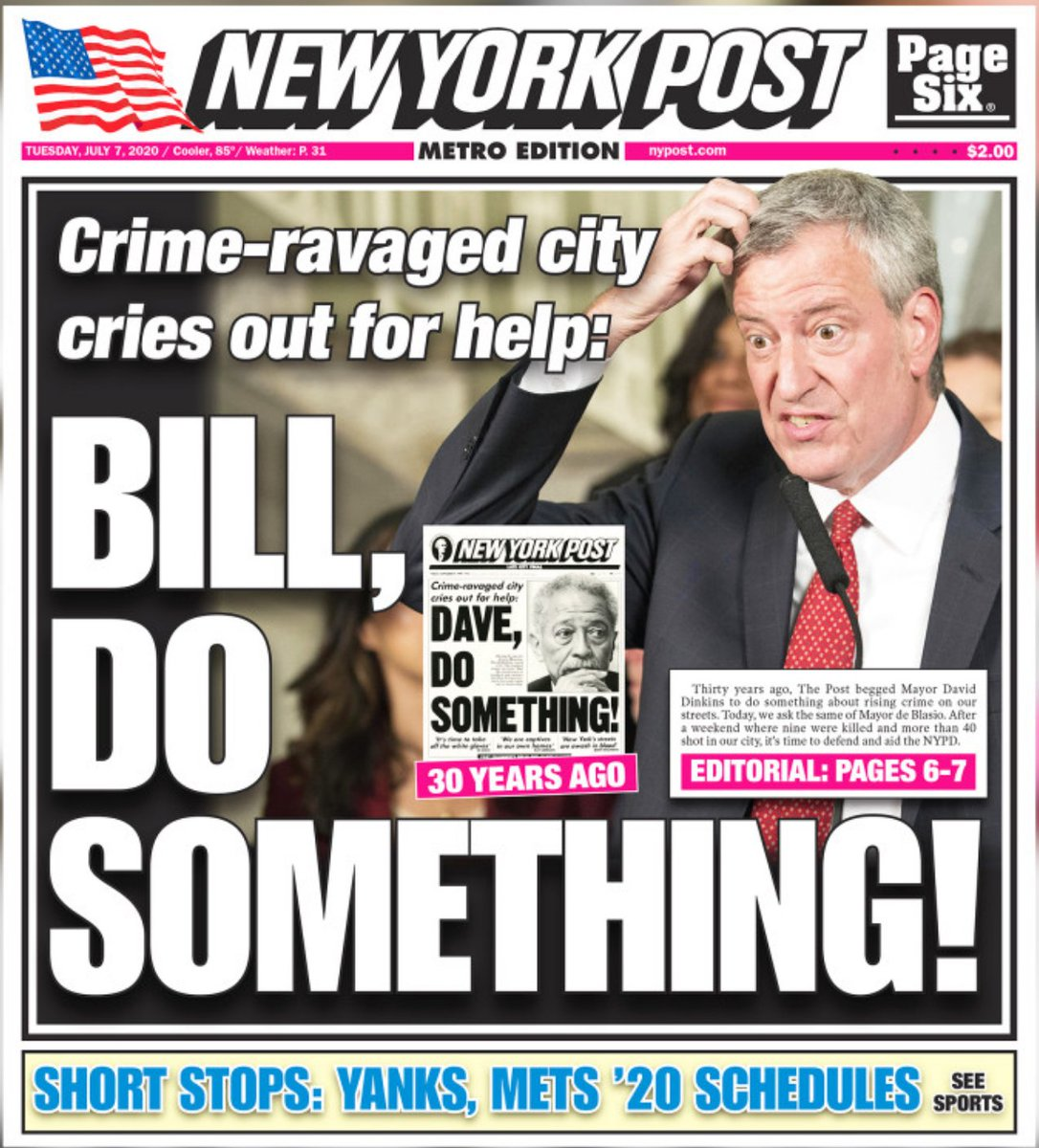 Tuesday's @nypost front page is a throwback https://t.co/F0fIVCPY6K