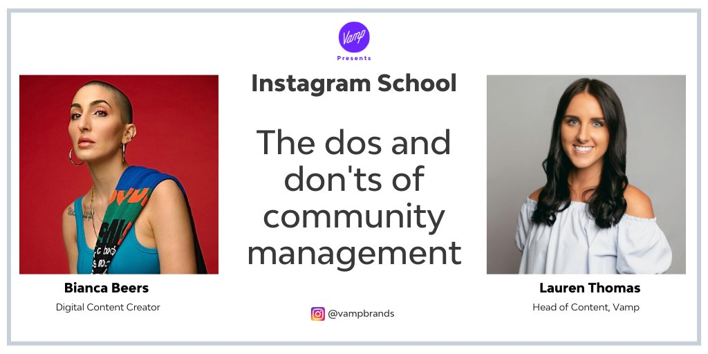 Engaging with your social community is key to building a strong relationship with your followers. Join us live on Insta (6pm AEST and 9am GMT) for tips on building a loyal following https://t.co/PTKnzJNb5v  #VampPresents #InstagramSchool #CommunityManagement #smm https://t.co/GUbCnZKiPR