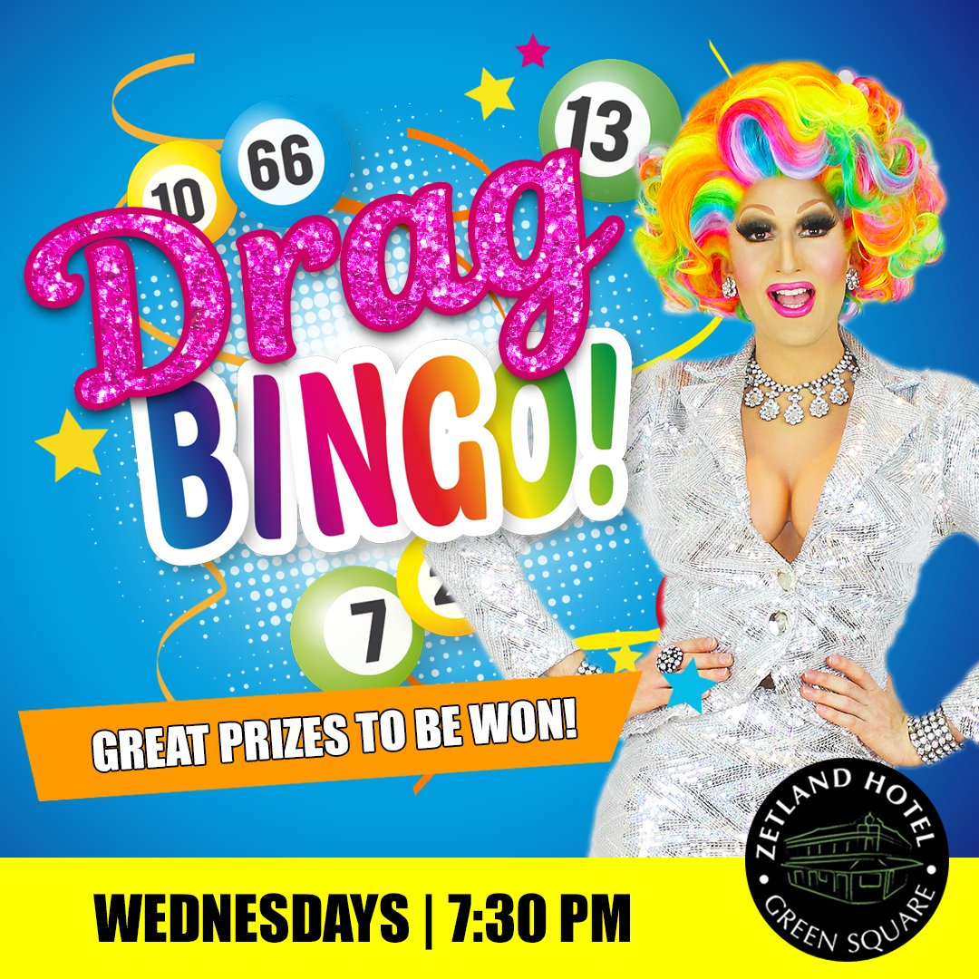Join us for Drag Bingo at the Zetland Hotel Wednesday night hosted by Prada Clutch!⠀⠀ Balls drop 7:30 PM. Great prizes to be won! ⠀⠀   Bookings essential - email bookings@zetlandhotel.com.au ⠀⠀ #DragBingo #BingoSydney #SydneyDragQueenpic.twitter.com/3462xbtAUf