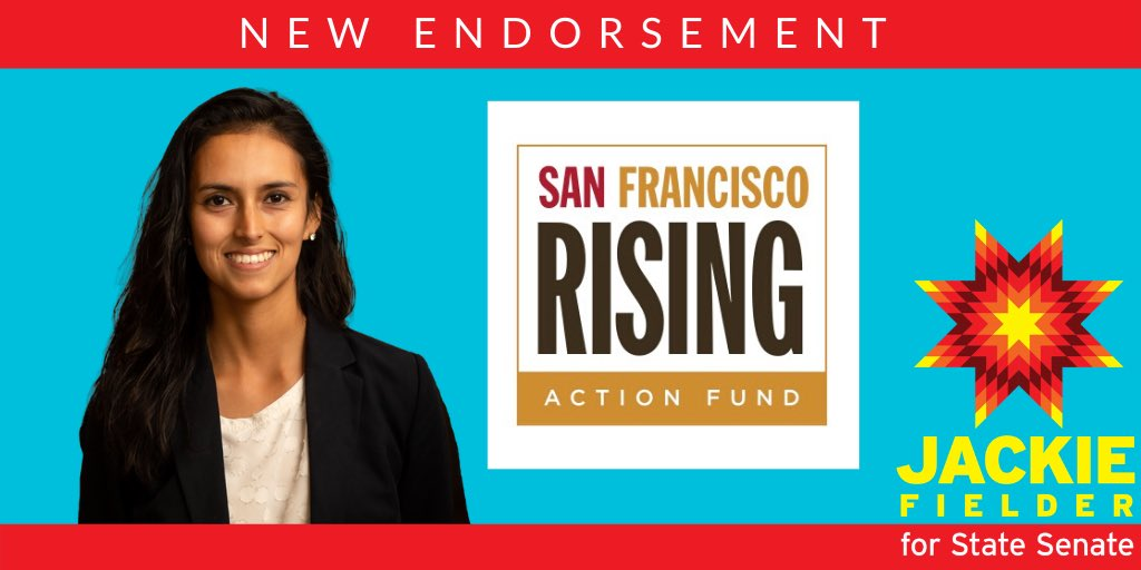 Some more good news: I've been endorsed by @SFRisingAction ! Truly honored to have the support of the most powerful grassroots organizers in this district ✊🏽